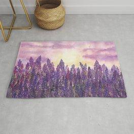 Lavender Field At Dusk Rug
