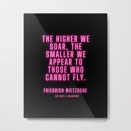 5  | Friedrich Nietzsche Quotes |210216| Pink Neon Philosophy Classic Words Saying Metal Print