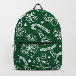 Christmas Doodle Pattern Backpack
