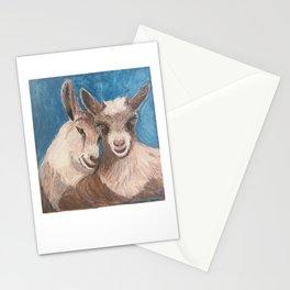 Goats Nuzzling Stationery Cards