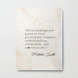 Mahatma Gandhi wise words 2 Metal Print