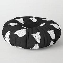 Black pit bull love Floor Pillow