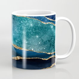 Blue Night Galaxy Marble Coffee Mug