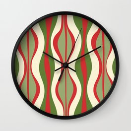 Mod Christmas Retro Xmas Hourglass Abstract Pattern  Wall Clock