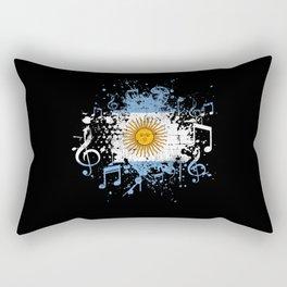 Argentina Music Flag Rectangular Pillow
