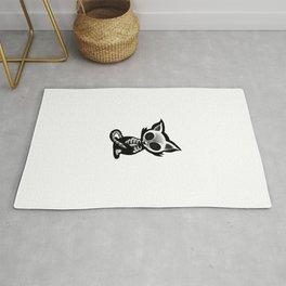 Skeleton cat Rug
