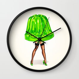Green Jello Pin-Up Wall Clock