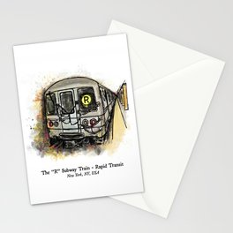 The R Train - MTA NYC Subway Train Stationery Cards