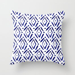 Shibori Diamond pattern Throw Pillow
