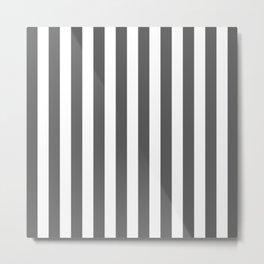 Vertical Stripes (Grey & White Pattern) Metal Print