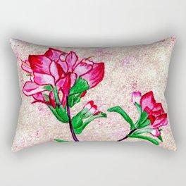 Indian Paintbrushes with Pinkinsh background Rectangular Pillow