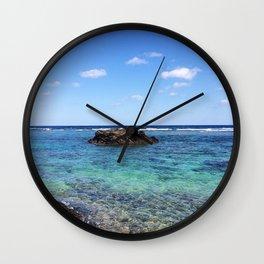 Okinawa, Japan Beach Ocean View Wall Clock