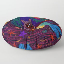 Tropical Mermadia Floor Pillow