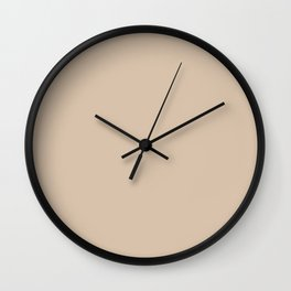 Simply Solid - Frosted Almond Wall Clock