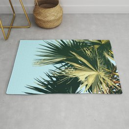 Tropical Trees Sky Exotic Rug