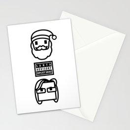 Santa Claus Advisory Explicit Socks Christmas Stationery Cards