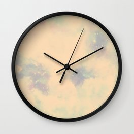 Pastel Cloulds Sky Seamless Nebula 253 Wall Clock