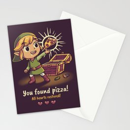 You Found Pizza All Hearts Restored // Cute RPG Gaming, Toon Link Stationery Cards