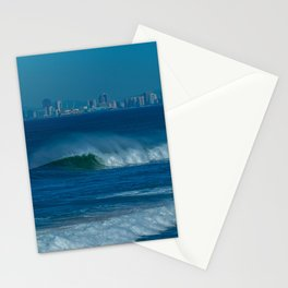 Surf and the City (vertical) Stationery Cards