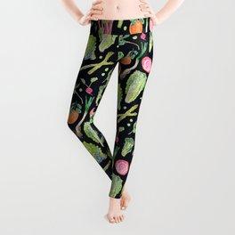 Spring Harvest Pattern Dark Leggings