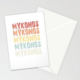 Retro Vintage Mykonos design Greece Greek design Love Gift Stationery Cards