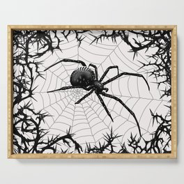 Briar Web- Black and White Serving Tray