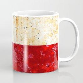 Texas Flag on Rusted Metal Sheet Coffee Mug