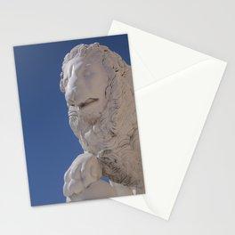 sun Peterhof  stone lion Stationery Cards