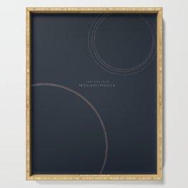 Melancholia, Lars von Trier, minimal movie poster, Danish film Serving Tray