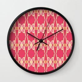 Cute Feminine Lattice Pattern Wall Clock