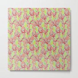 Turtles in the Reef Metal Print