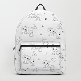 Cute Doodle Elephant Ink Art Backpack