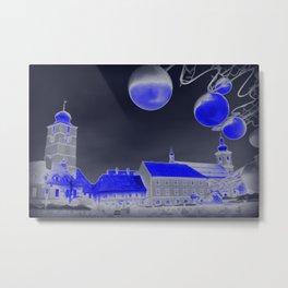 Blue Christmas night Metal Print