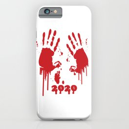 2021 versus  2020 bloody handprints good by tee iPhone Case