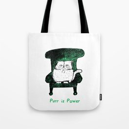 Purr is Power  (Green)  Tote Bag