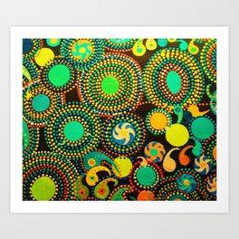 The Joy Of Colour - Green Tint Art Print