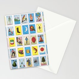 Mexican Loteria Bingo Card Spanish Tarot Card Design Stationery Cards