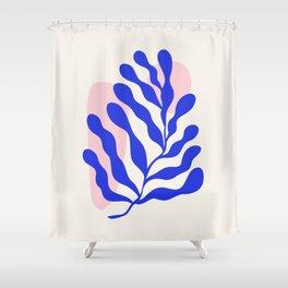 Blue Matisse Ferns Shower Curtain
