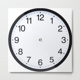 Wall clock black white Metal Print
