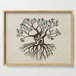 Om Tree  Serving Tray