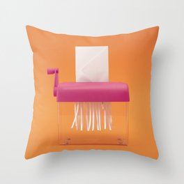 Notification shredder Throw Pillow