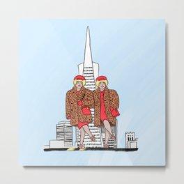 San Francisco's iconic Brown Twins Metal Print