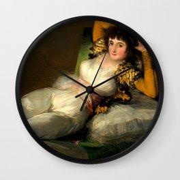 """Francisco Goya """"La maja vestida (The Clothed Maja)"""" Wall Clock"""