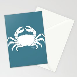 Crab Teal Background Stationery Cards