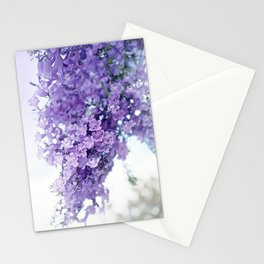 Branch of violet tree Stationery Cards