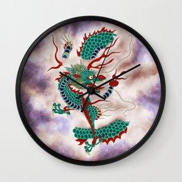 Dragon in the Cloud Type H: Minhwa-Korean traditional/folk art Wall Clock