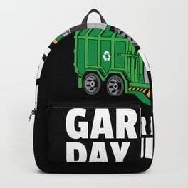 garbage truck garbage collection man Backpack