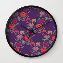 Recolour Peonies Wall Clock