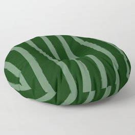 Paint Lines Vertical Greens Floor Pillow
