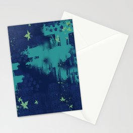 Ble Sky and Leaves Stationery Cards